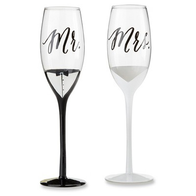 Kate Aspen Mr. & Mrs. Tuxedo and Wedding Gown Toasting Flutes