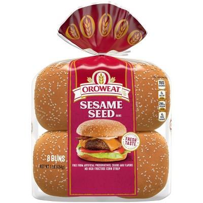Oroweat Sesame Seed Sandwich Buns - 16oz