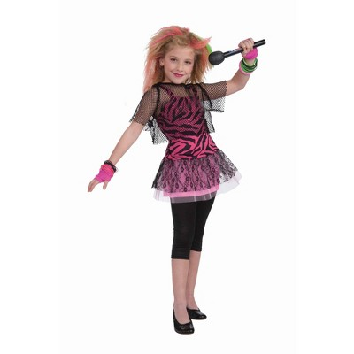 Forum Novelties Child 80s Punk Rock Star Girl Costume