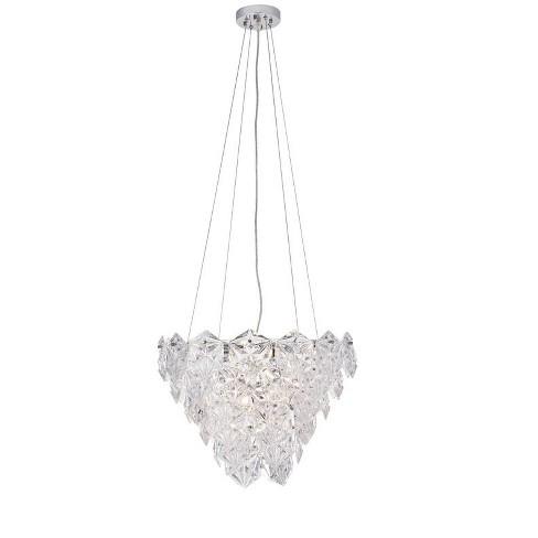 Elegant Lighting 1708d19 London 6 Light 19 11 16 Wide Crystal Mini Chandelier Chrome Target