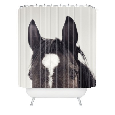 Listen Up Shower Curtain Gray - Deny Designs