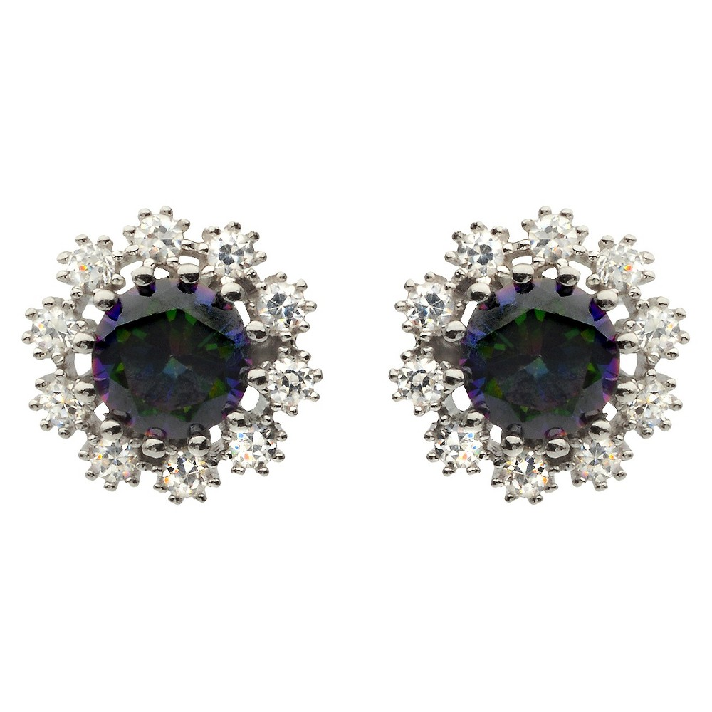 7/8 CT. T.W. Round Cut Cubic Zirconia Prong Set Stud Earrings in Sterling Silver - (6mm), Girl's