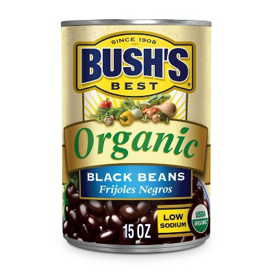 Bush's Organic Black Beans - 15oz
