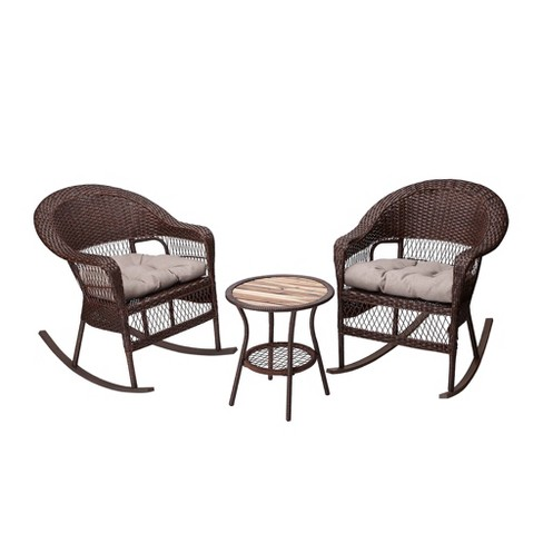 3pc Patio Rocking Bisto Set - Peaktop - image 1 of 4