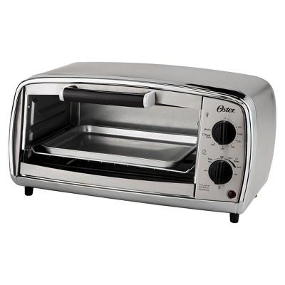 Oster® 4-Slice Toaster Oven, Stainless Steel, TSSTTVVGS1