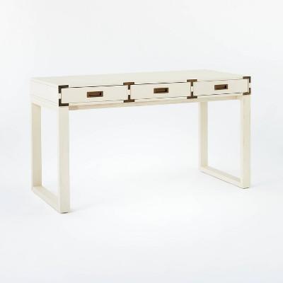 Blue Creek Campaign Desk Cream - Threshold™ designed with Studio McGee