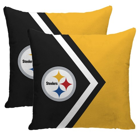 Nfl Pittsburgh Steelers Side Arrow Poly Span Throw Pillow 2pk Target