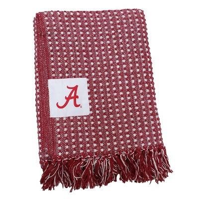NCAA Alabama Crimson Tide Farmhouse Throw Blanket - Red