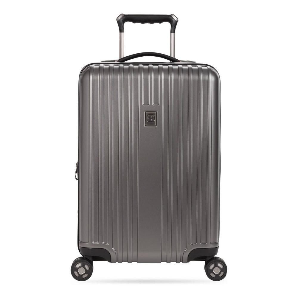 Swissgear 20 34 Hardside Carry On Suitcase Gun Metal