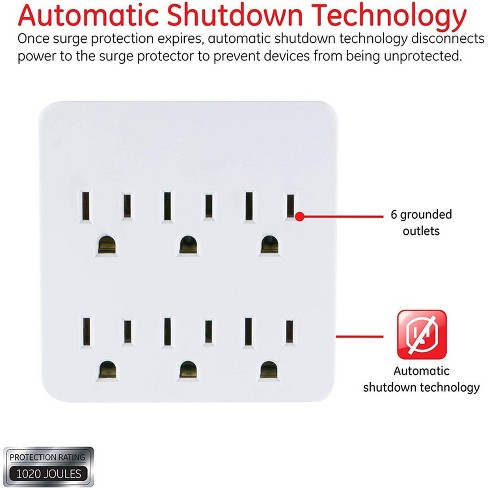 General Electric 6 Outlet Surge Protector Charging Station - image 1 of 4