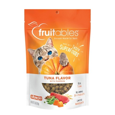 Fruitables Tuna Flavor with Pumpkin Crunchy Cat Treats - 2.5oz