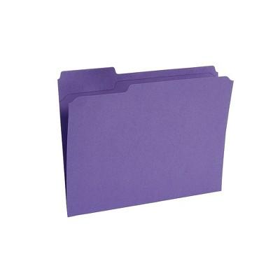 Staples File Folders Reinforced 3-Tab Letter Size Purple 100/Box (508945) TR508945/508945