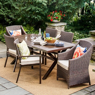 Belvedere Wicker Patio Furniture Collection Threshold