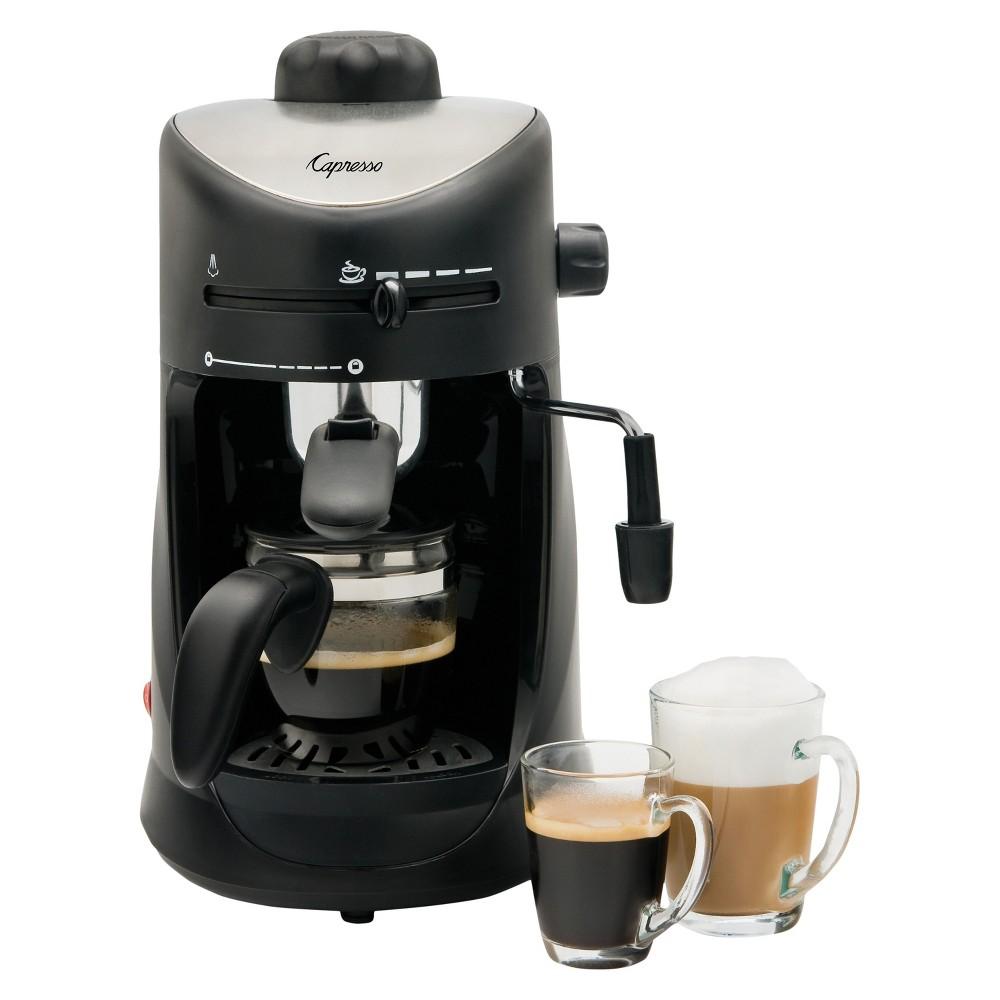 Capresso 4 Cup Espresso & Cappuccino Machine Black 303.01 52103861