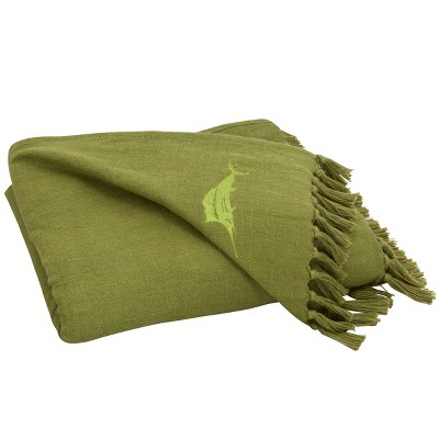 "50""x60"" Island Essentials Throw Blanket Green - Tommy Bahama"