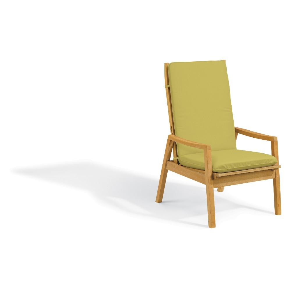 Siena Natural Shorea Reclining Armchair with Polyester Cushion Peridot - Oxford Garden