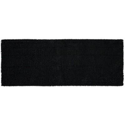 22 x60  Chunky Chenille Memory Foam Bath Rugs & Mats Black - Room Essentials™