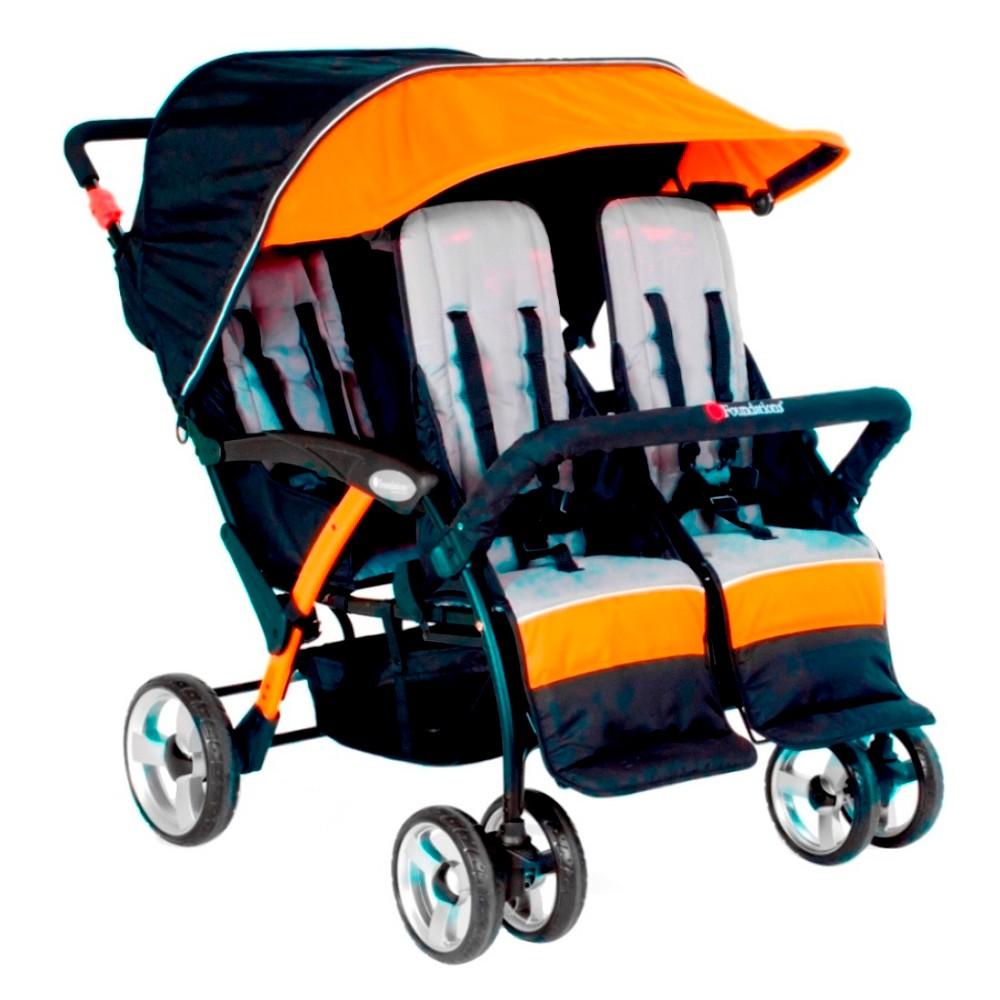 Image of Foundations Quad Sport 4 Passenger Stroller - Orange