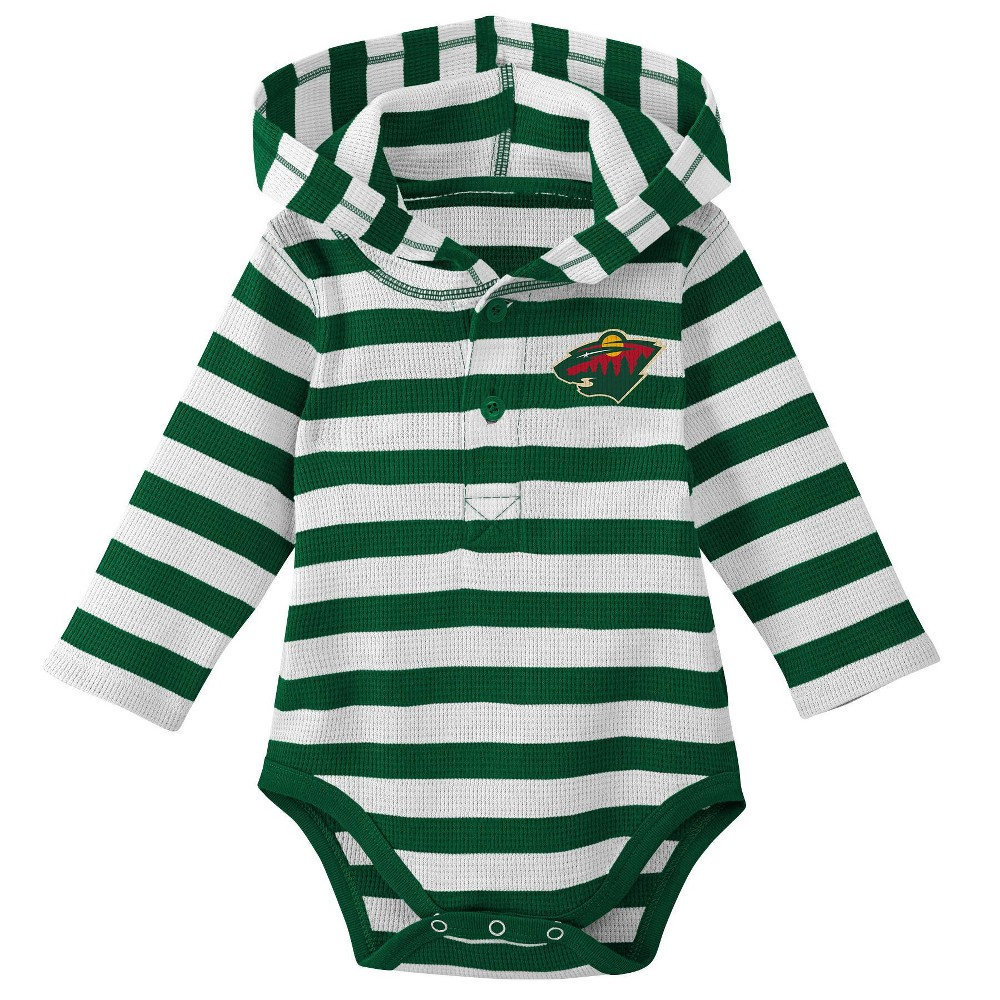 Minnesota Wild Boys' Newborn/Infant Sleeper Bodysuit - 0-3M, Multicolored