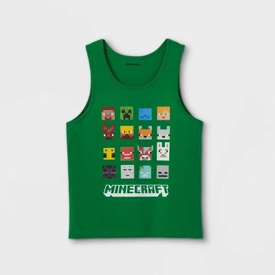 Boys' Minecraft Grid Squares Tank Top - Green