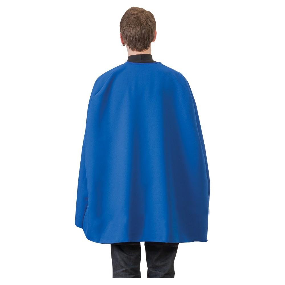 Superhero Cape Adult 36, Adult Unisex, Blue