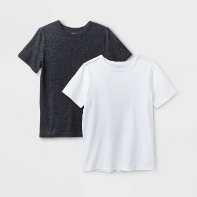 Boys' 2pk Adaptive Short Sleeve T-Shirt - Cat & Jack™ White/Black