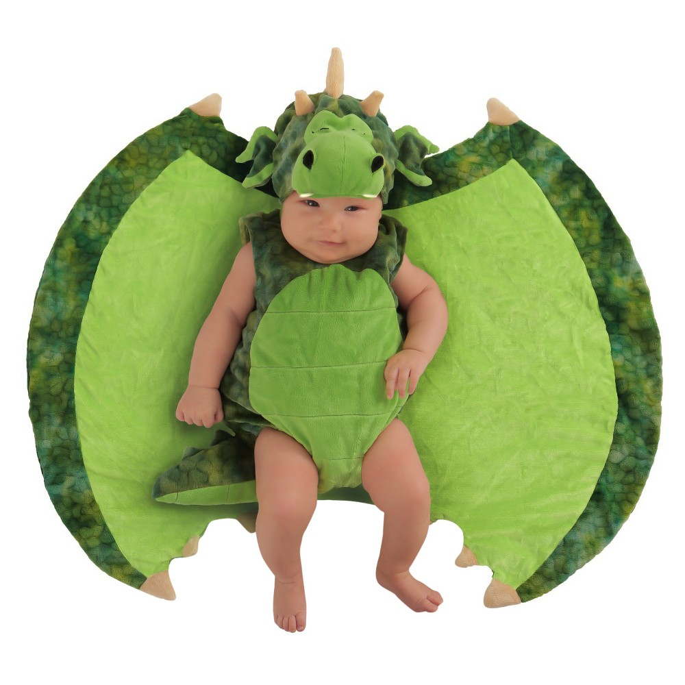 Toddler Kids' Swaddle Wings Darling Dragon Costume 0-3M, Toddler Boy's, Multi-Colored