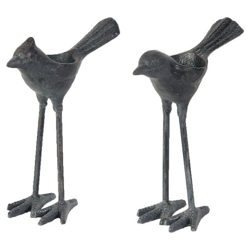 2pc Cast Iron Bird Tealight Candle Holders Set - A&B Home - image 1 of 1