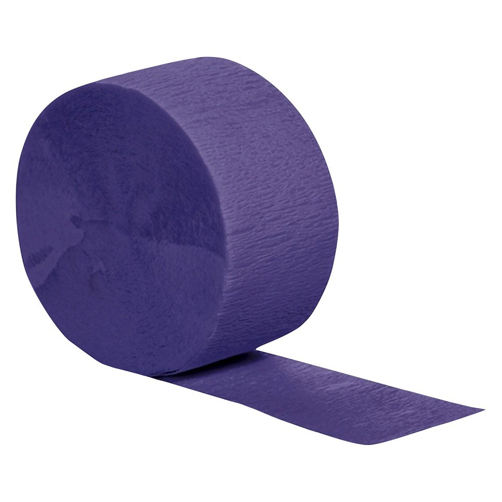 Purple Party Streamers, Party Decorations and Accessories Complete your birthday or holiday party decorations with these colorful Crepe Streamers. Drape from the ceiling, tape to the wall or hang them in doorways — the only limit is your imagination. And with 13 different colors, there's a party streamer to match any theme or color scheme. Color: Purple. Age Group: Adult.