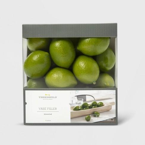 17pc Unscented Lime Vase Filler Green - Threshold™ - image 1 of 2