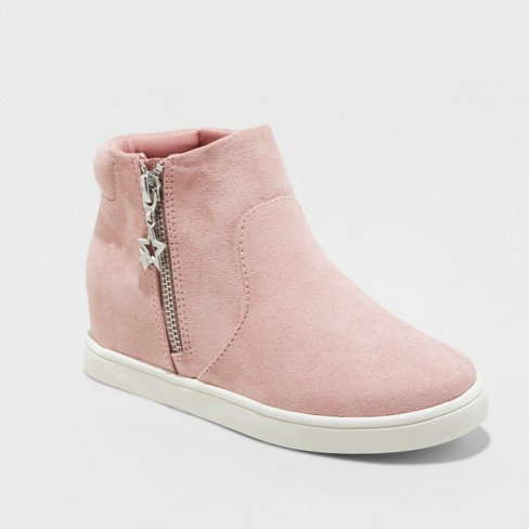 Girls' Andrea High Top Sneakers with Metallic - art class™ Pink 3 - image 1 of 3