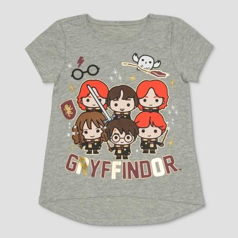 864fe699 Toddler Girls' Harry Potter Gryffindor House Short Sleeve T-Shirt - Heather  Gray