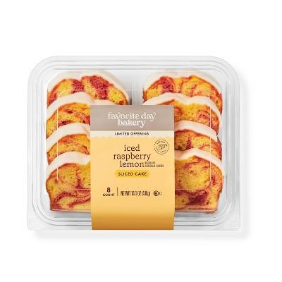 Iced Raspberry Lemon Sliced Cake - 14.1oz - Favorite Day™