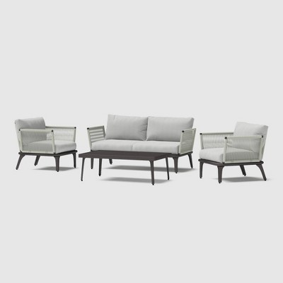 Evanon 4pc Rope Seating Set - RST Brands