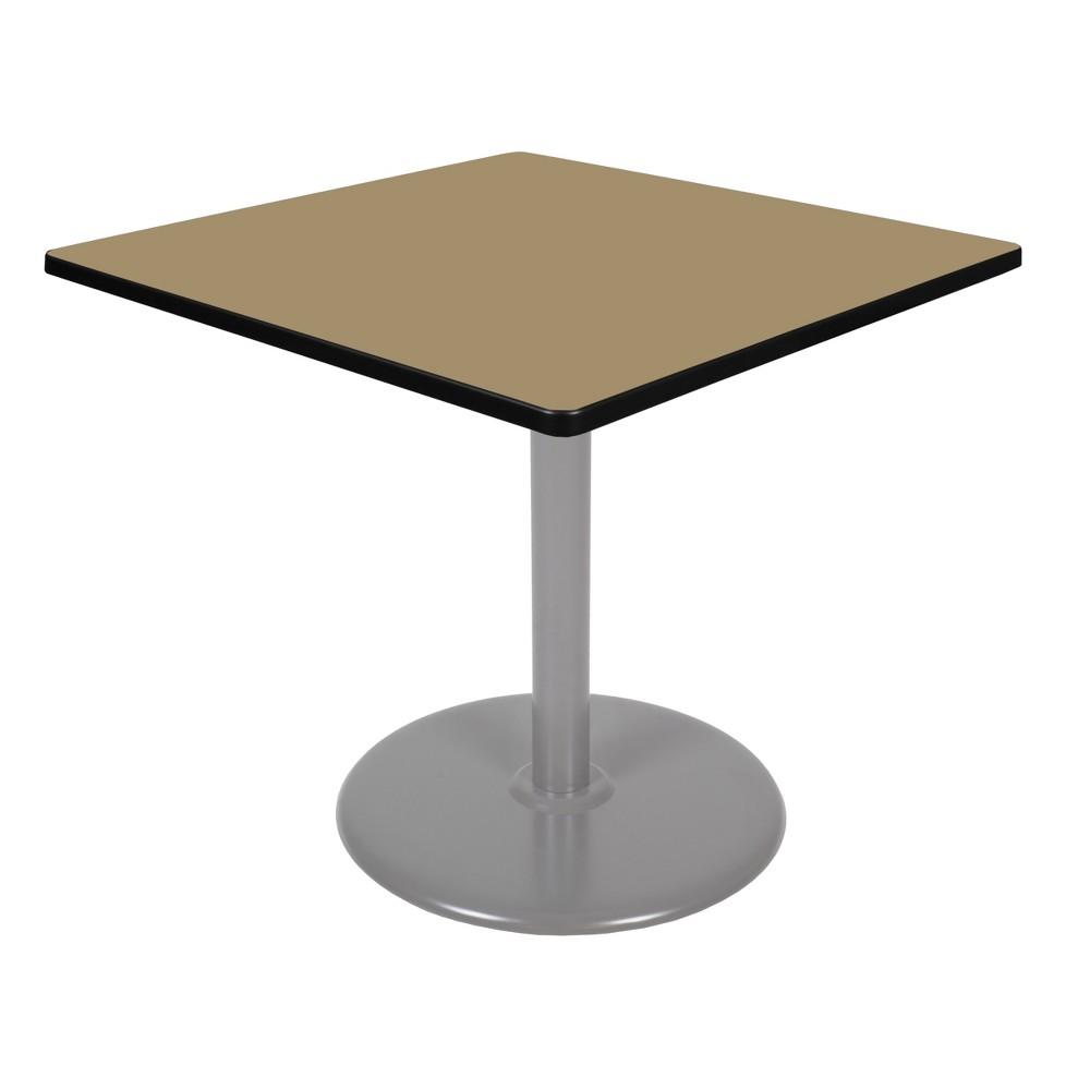 36 Via Square Platter Base Table Gold/Gray - Regency
