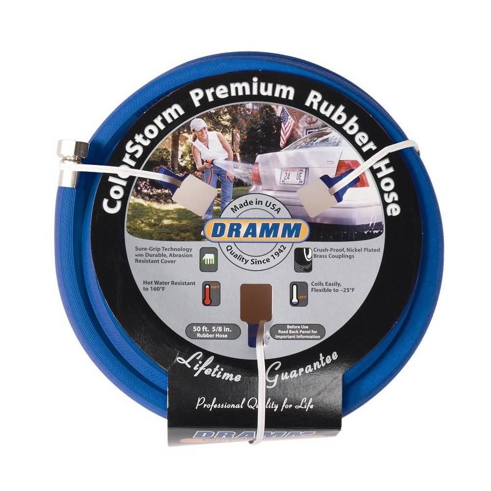 Image of 50' ColorStorm Premium Rubber Garden Hose Blue - Dramm