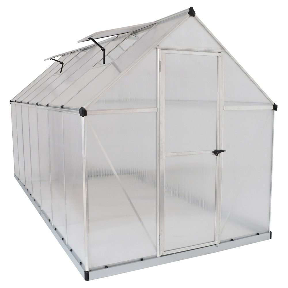 Image of 6'X14' Mythos Greenhouse - Silver - Palram