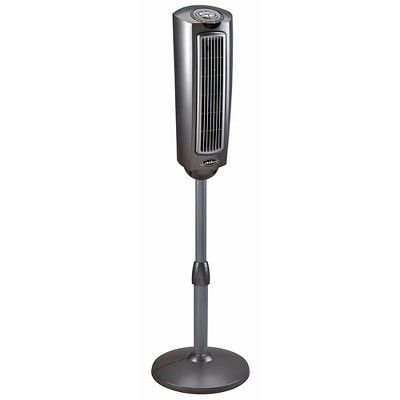 Lasko 2535 52 Inch 3 Speed Portable Electric Adjustable Tower Pedestal Fan with Directional Louvers, Remote, and Control Timer, Black