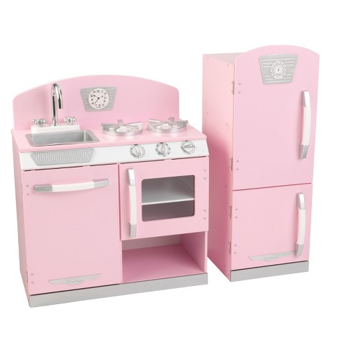 Kidkraft Pink Retro Kitchen and Refrigerator Play Set - image 1 of 5