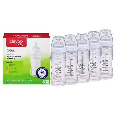 Playtex Baby Nurser With Drop-Ins Liners 8oz 5 Pack Baby Bottle
