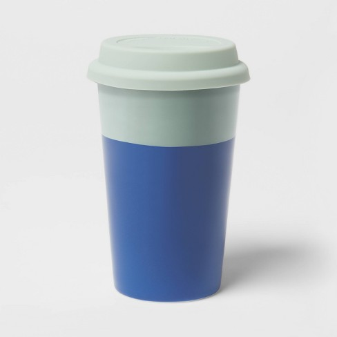11oz Travel Mug With Silicone Lid Mindful Mint And Dolphin Blue Room Essentials Target