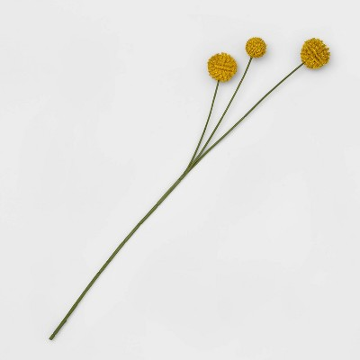 "26"" Artificial Billy Buttons Stem Yellow - Opalhouse™"