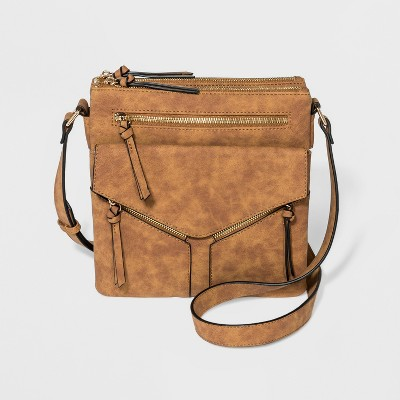 f30fe8363eea VR By Violet Ray North South Leanna Crossbody Bag – Cognac – Target ...