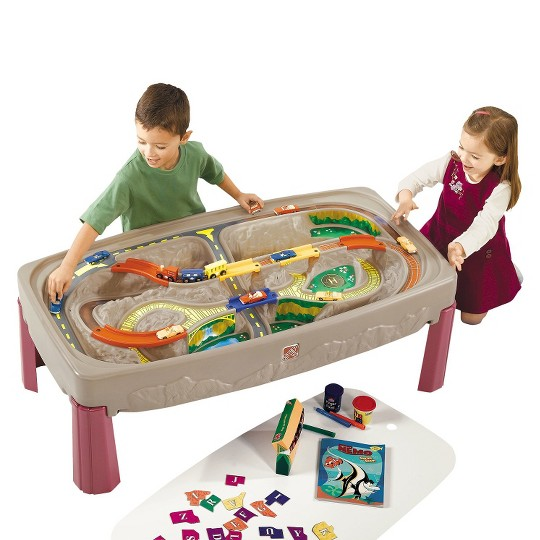 Step2 Deluxe Canyon Road Train & Track Table with Lid image number null