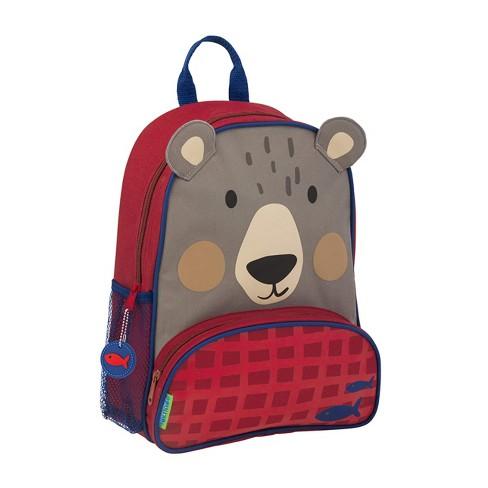 Stephen Joseph Sidekick Kids Toddler Backpack School Bag with Adjustable Straps and Mesh Side Pocket for Boys and Girls, Bear - image 1 of 3