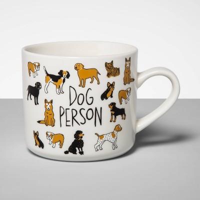 16oz Stoneware Dog Person Mug Cream - Opalhouse™