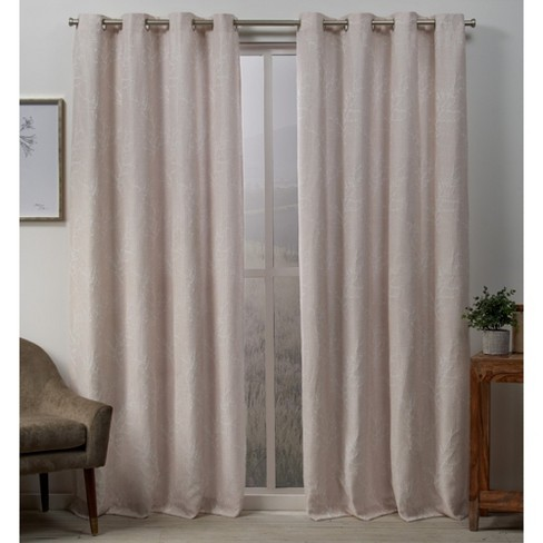 Stanton Branch Textured Grommet Top Blackout Curtain Panel Pair -Exclusive Home - image 1 of 4