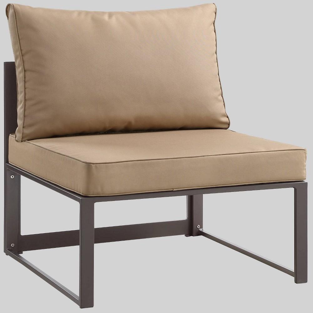Fortuna Armless Outdoor Patio Sofa Mocha (Brown) - Modway
