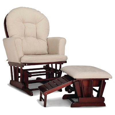 Graco® Parker Semi-Upholstered Glider and Nursing Ottoman - Cherry/Beige
