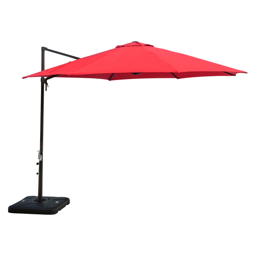 Image of 13' Cantilever Umbrella - Red - Hanover
